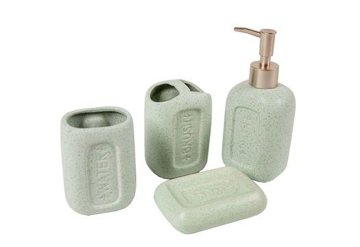 set-acessorios-banheiro-vizapi-4pcs-square-verde-1904-1904-1